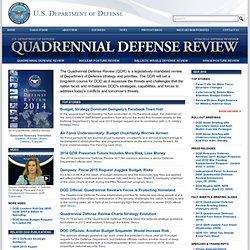 gov Special Report: Quadrennial Defense Review