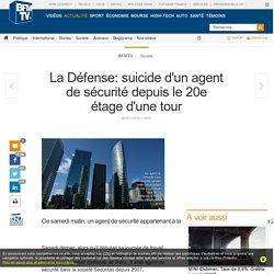 La Défense: suicide d'un agent de sécurité depuis le 20e étage d'une tour
