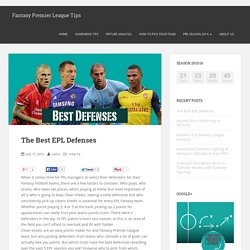 The Best EPL Defenses