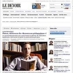 Platon, défenseur du «Renouveau pédagogique»?