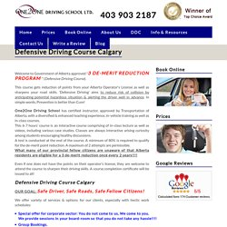 Defensive Driving Course Calgary