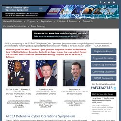 2015: AFCEA Defensive Cyber Operations Symposium