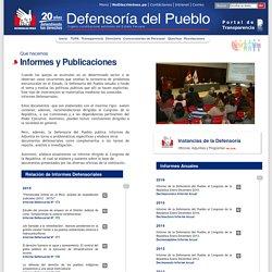 Defensoría del Pueblo - Informes y Publicaciones