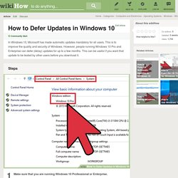 How to Defer Updates in Windows 10: 6 Steps