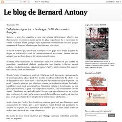 Déferlante migratoire : « le danger d'infiltration » selon François.