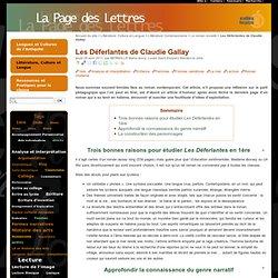 Les Déferlantes de Claudie Gallay
