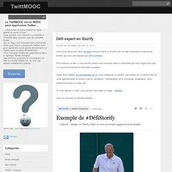 Défi expert en Storify