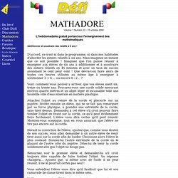 Défi mathématique - Mathadore