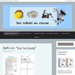 """Défi n.4 : """"Sur la route"""" – Des robots en classe"""