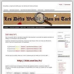 Défi-Web N°1 « Les défis-Webs de Thau ou Tard