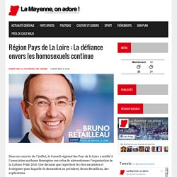 Région Pays de La Loire : La défiance envers les homosexuels continue