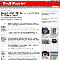 Stand clear! Will HTC's One act as a defibrillator for Windows Phone?