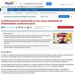 La deficiencia de vitamina K2 está relacionada con muchas enfermedades