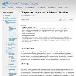 Chapter 20 The Iodine Deficiency Disorders - Thyroid Disease ManagerThyroid Disease Manager