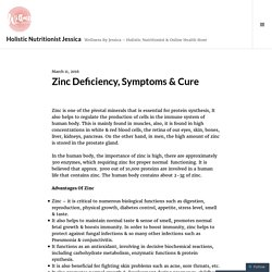 Zinc Deficiency, Symptoms & Cure – Holistic Nutritionist Jessica