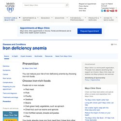 Iron deficiency anemia Prevention
