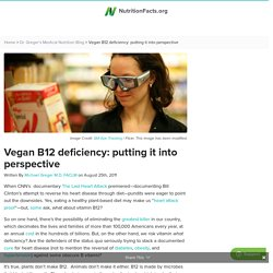 Vegan B12 deficiency: putting it into perspective