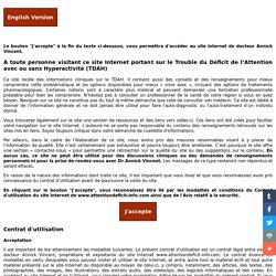 Déficit de l'attention, trouble déficitaire de l'attention (tdah)