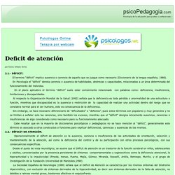 Deficit de atención