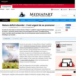 Nature deficit disorder : il est urgent de se promener