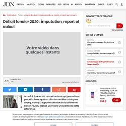Déficit foncier 2020: imputation, report et calcul