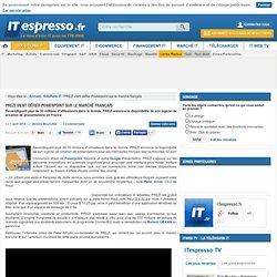 PREZI vient défier Powerpoint sur le marché français