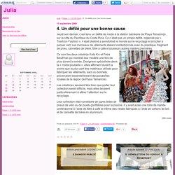 4. Un défilé pour une bonne cause - Julia
