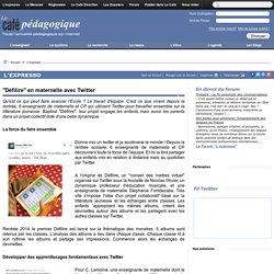 """""""Défilire"""" en maternelle avec Twitter"""
