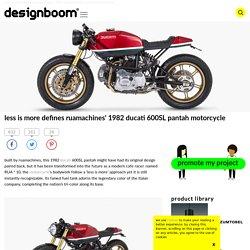 less is more defines ruamachines' 1982 ducati 600SL pantah motorcycle