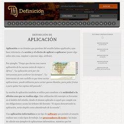 Definición de aplicación