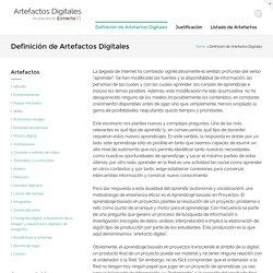 Definición de Artefactos Digitales