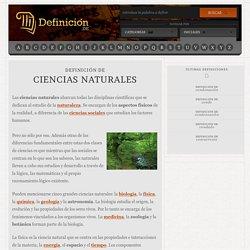 Definición de ciencias naturales