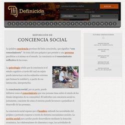 Definición de conciencia social