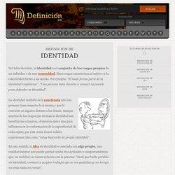 Definición de identidad