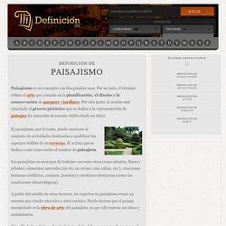 Definición de paisajismo