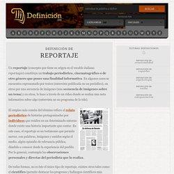 Definición de reportaje