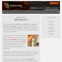 Definición de república