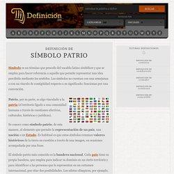 Definición de símbolo patrio