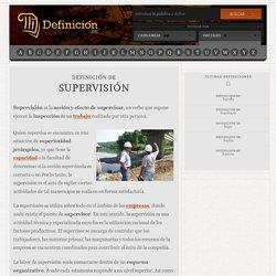 Definición de supervisión