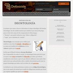 Definición de deontología