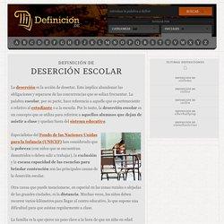 Definición de deserción escolar