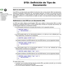 DTD: Definición de Tipo de Documento. XML. Bartolomé Sintes Marco