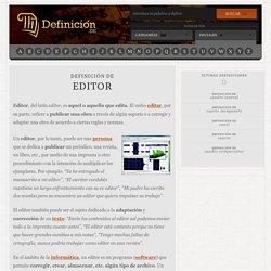 Definición de editor