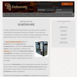 Definición de hardware