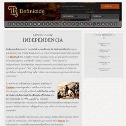Definición de independencia