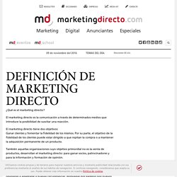 Definición de Marketing Directo