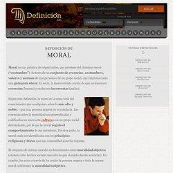 Definición de moral