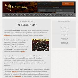 Definición de oficialismo
