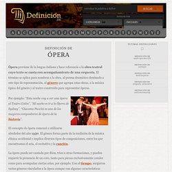 Definición de ópera