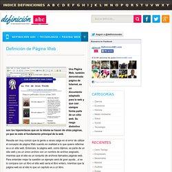 Definición de Página Web